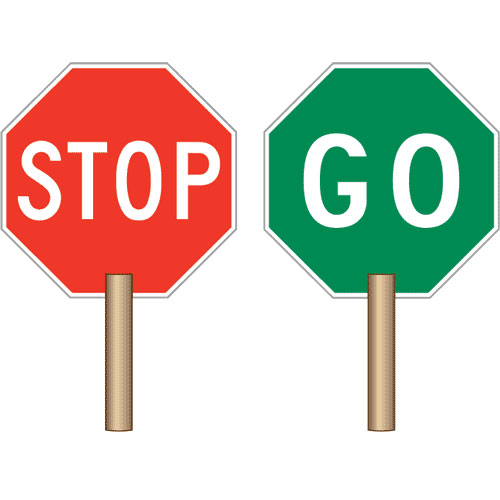 stop and go signs